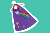 Personalised Rainbow shooting star STELLA cape
