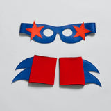 SuperSTAR  Mask & Cuff Set ++ Blue & turquoise
