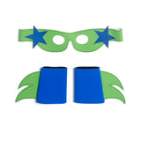 SuperSTAR  Mask & Cuff Set ++ Green & blue/black