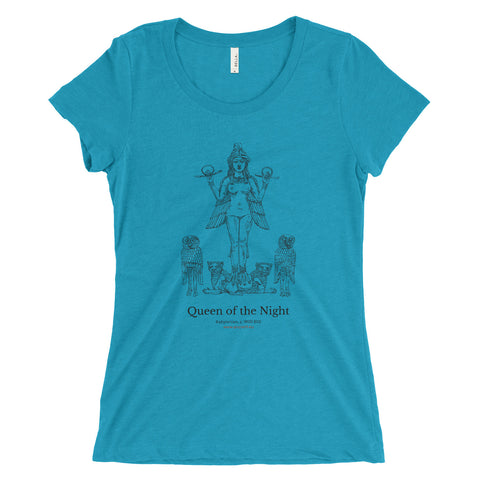 Queen of the Night T-Shirt - Aqua (Women)