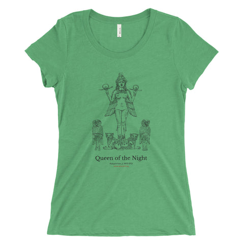 Queen of the Night T-Shirt - Green  (Women)