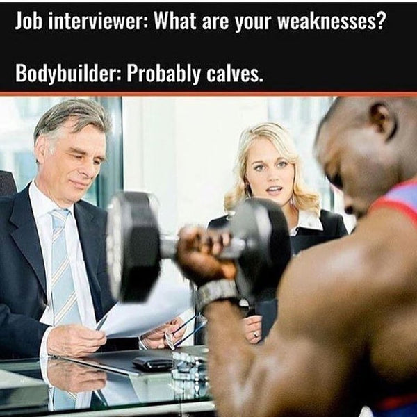 "Olympus Health Job Interview with a bodybuilder –""what are your weaknesses?"""