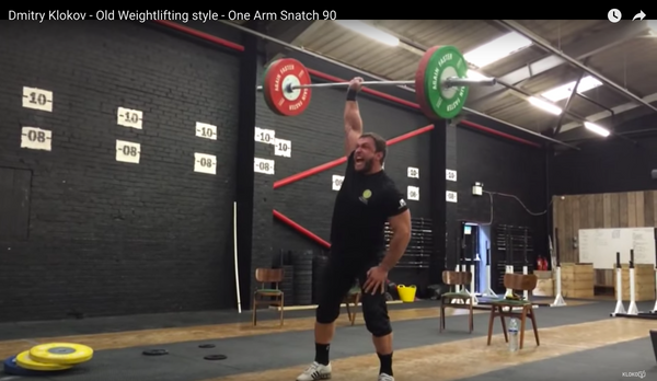 Dmitry Klokov 90kg one armed snatch thumbnail