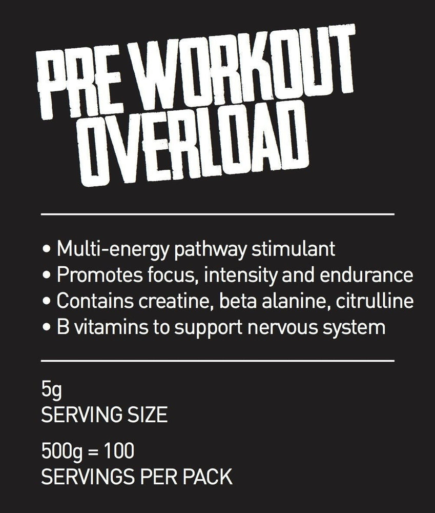 Extra Strong Pre Workout 500g pouch/100 servings