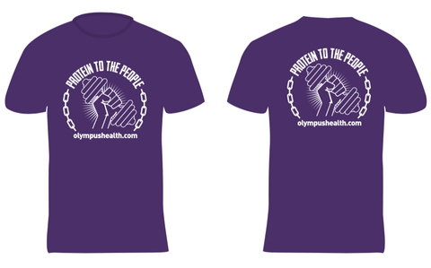 Protein to the People T-shirt (Purple with white logo)