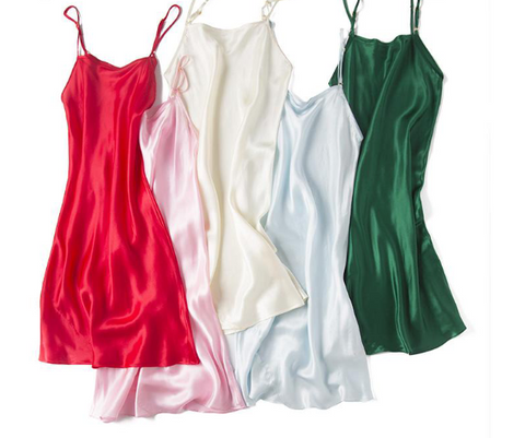 Pure Silk Slips Sleepwear