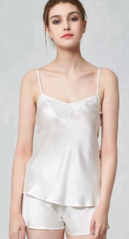 100% Silk Camisole LuxurySleepwear White