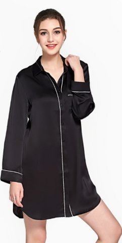 silk Sleep Shirt Sleepwear