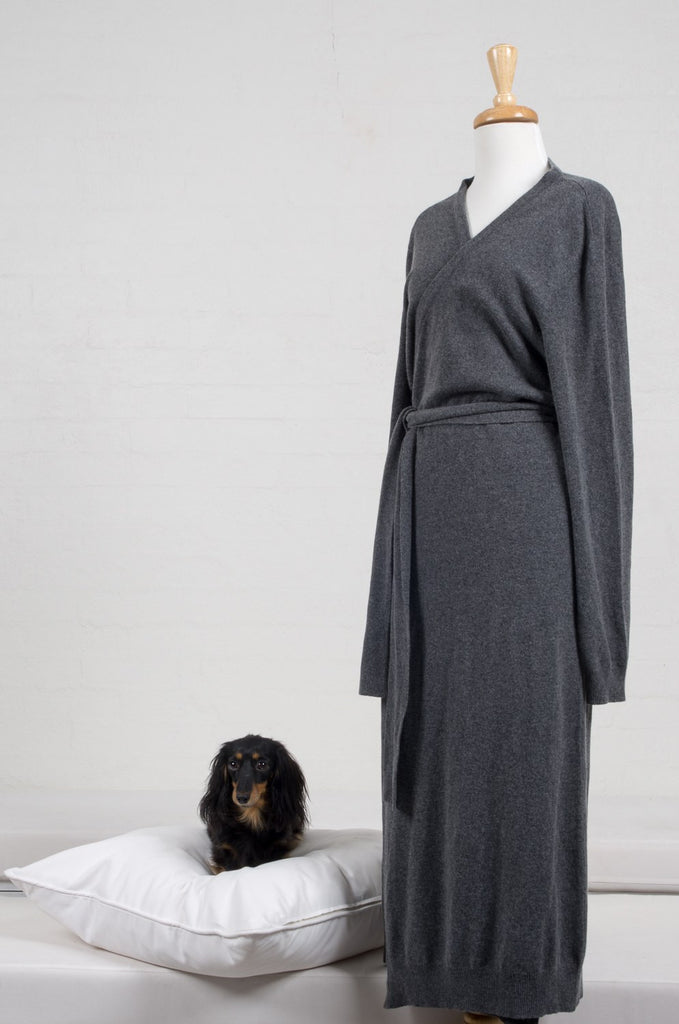 351fe75740 Dark Grey Cashmere Bathrobe  Dark Grey Cashmere Bathrobe. The Good Wife   Co