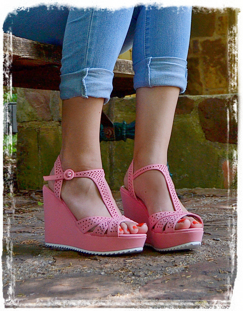 Wedges Of Comfort-Soft Pink - Charlene's Style  - 1