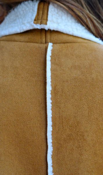 Juniors Camel Faux Suede Vest With Pockets-Cheap Junior Clothing