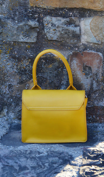 Women's Yellow One Handle Handbag/ Purse