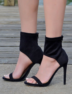 Women's Sexy Wrap Ankle Stiletto Heels-Black