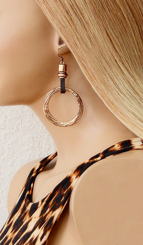 Women's Tuscan Gold Hoop Trendy Earrings