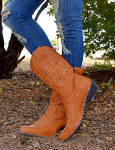 Gone Country Cowgirl Boots-Congnac