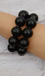 Women's Stretchy Chunky Beaded Bracelet Set