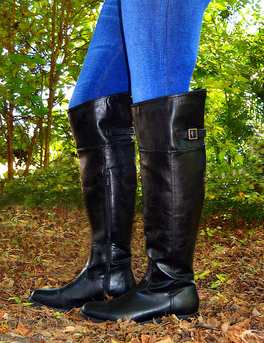 Rider Boots Of Fall-Black