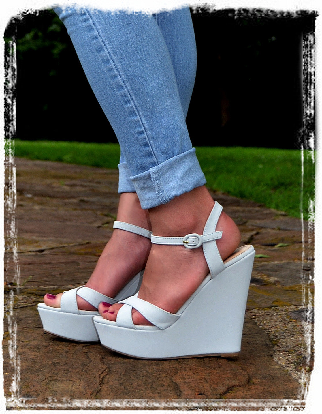 Wedges Of Comfort & Style-Gray