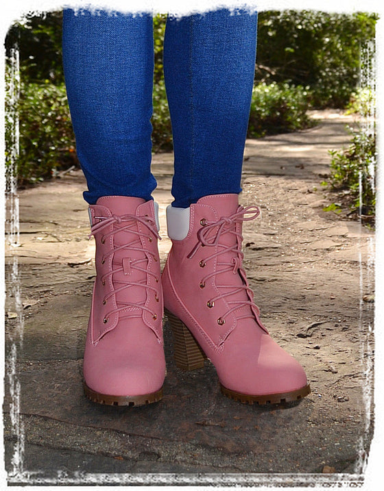 Chic On Chic Wedge Booties-Pink