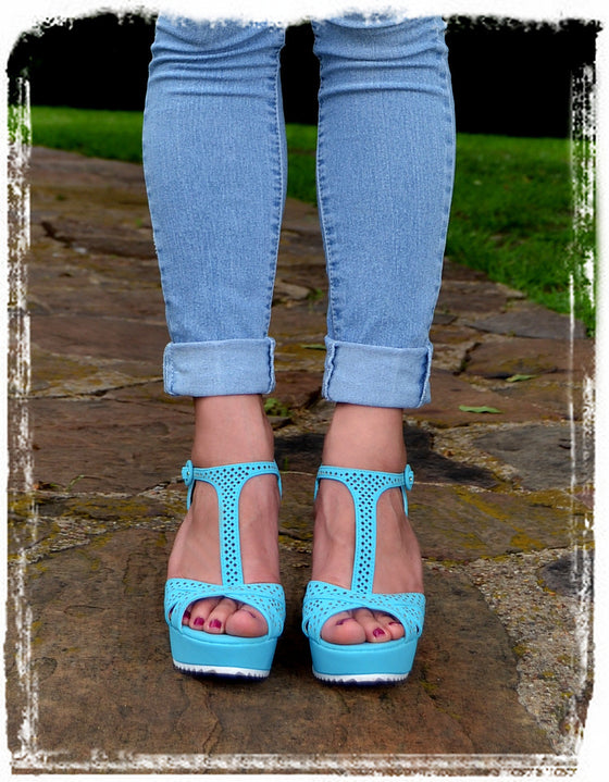 Wedges Of Comfort-Baby Blue