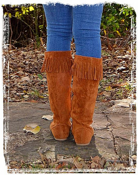 Moccasin Boots Of Fall-Chestnut