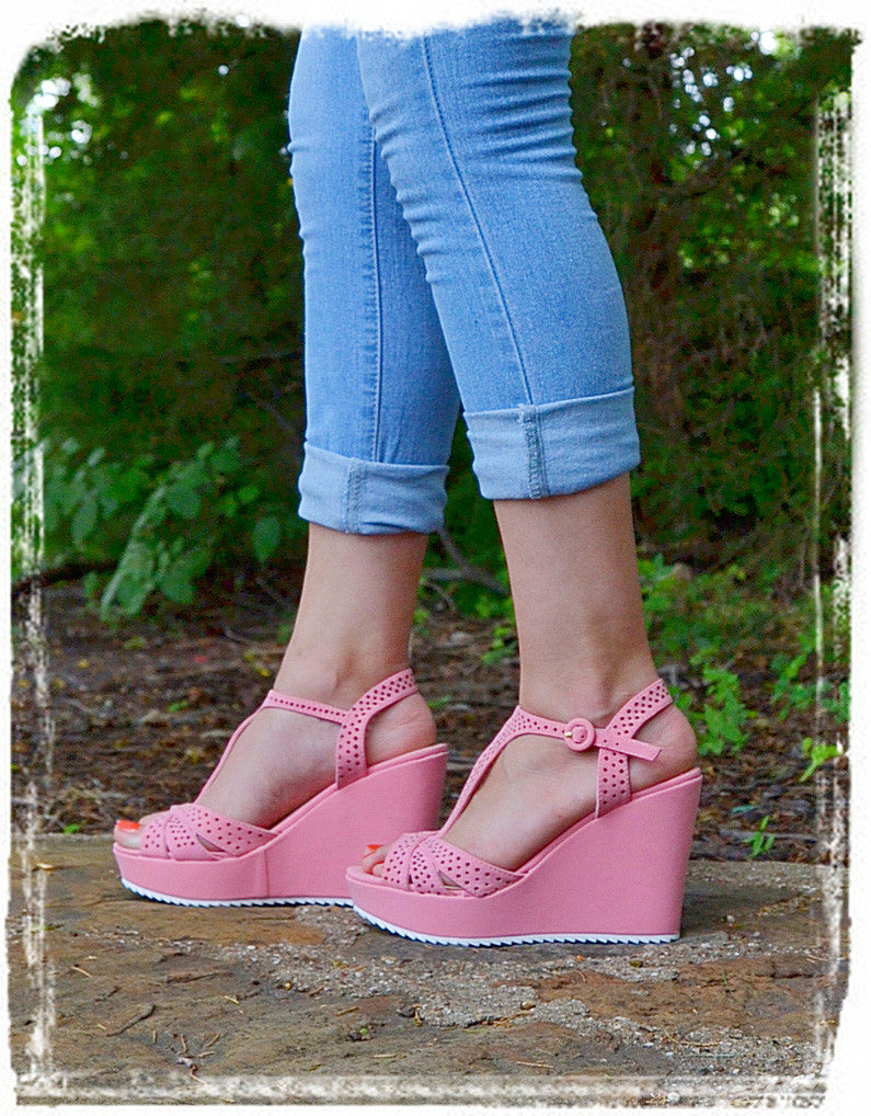 Wedges Of Comfort-Soft Pink - Charlene's Style  - 4