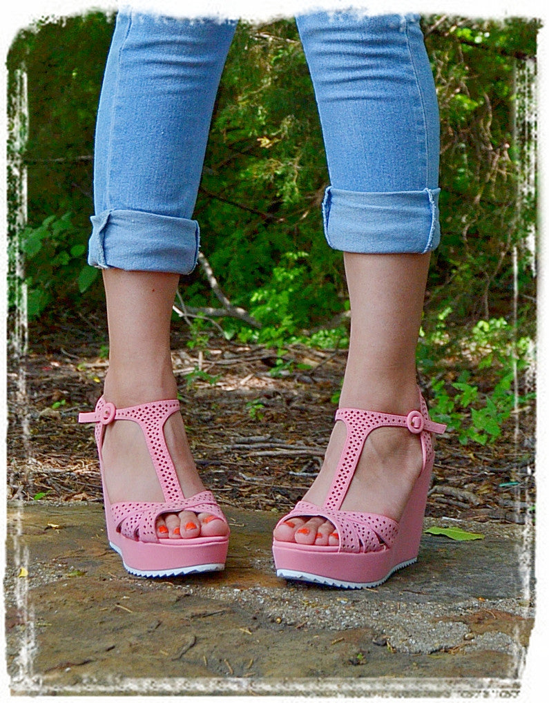 Wedges Of Comfort-Soft Pink - Charlene's Style  - 2