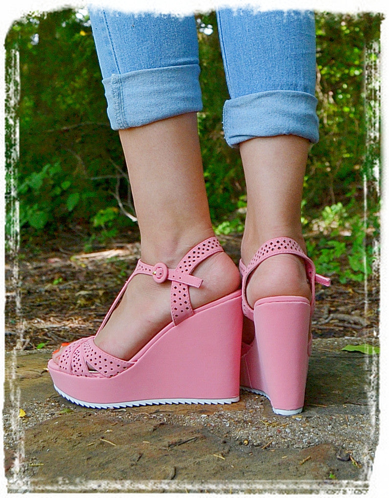 Wedges Of Comfort-Soft Pink - Charlene's Style  - 3