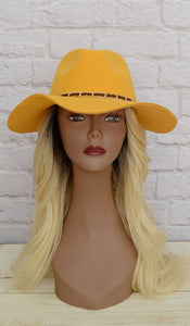 Women's Mustard Yellow Wool Fashion Hat