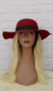 Women's Black/Maroon Fashion Hat