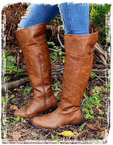 Rider Boots Of Fall-Cognac - Charlene's Style  - 3