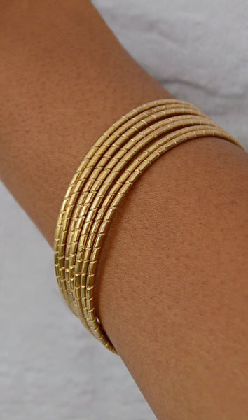 Women's 6 Piece Gold Bangle/Bracelet Set