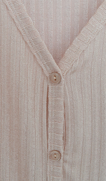 Women's V-Neck Rose Pink Pleated Blouse
