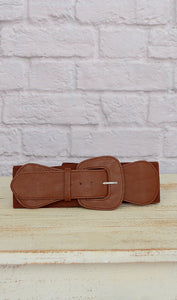 Women's Chocolate Brown Fashion Elastic Belt