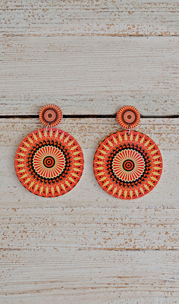 Women's Fashion Boutique Earrings-Orange