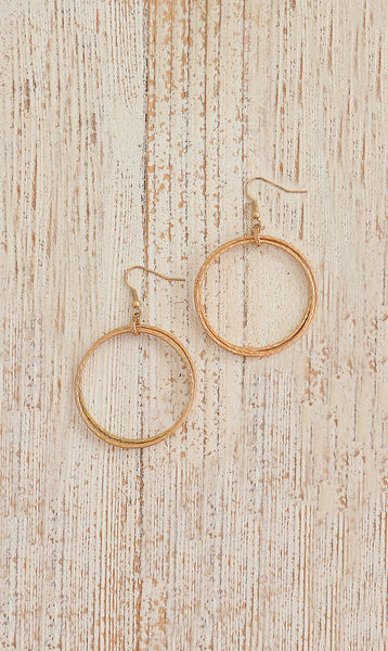 Women's Yellow Gold Hoop Fashion Earrings