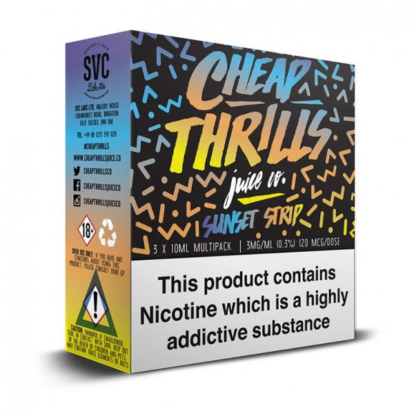 CHEAP THRILLS SUNSET STRIP TPD COMPLIANT 10ML X 3 PACK