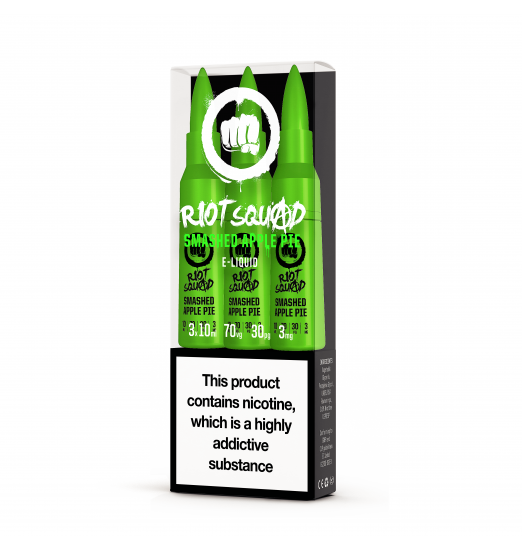 RIOT SQUAD SMASHED APPLE PIE 3X10ML 70VG/30PG