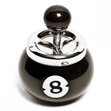 BILLIARD BALL PUSH DOWN METAL CIGARETTE ASHTRAY