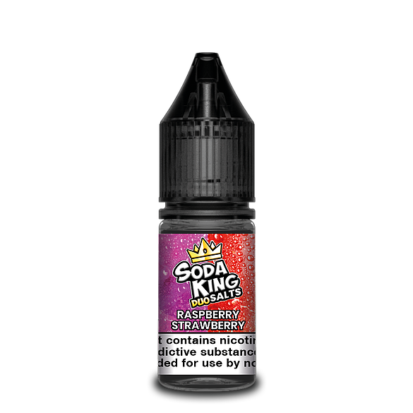SODA KING DUO NIC SALTS RASPBERRY STRAWBERRY 10ML 20MG
