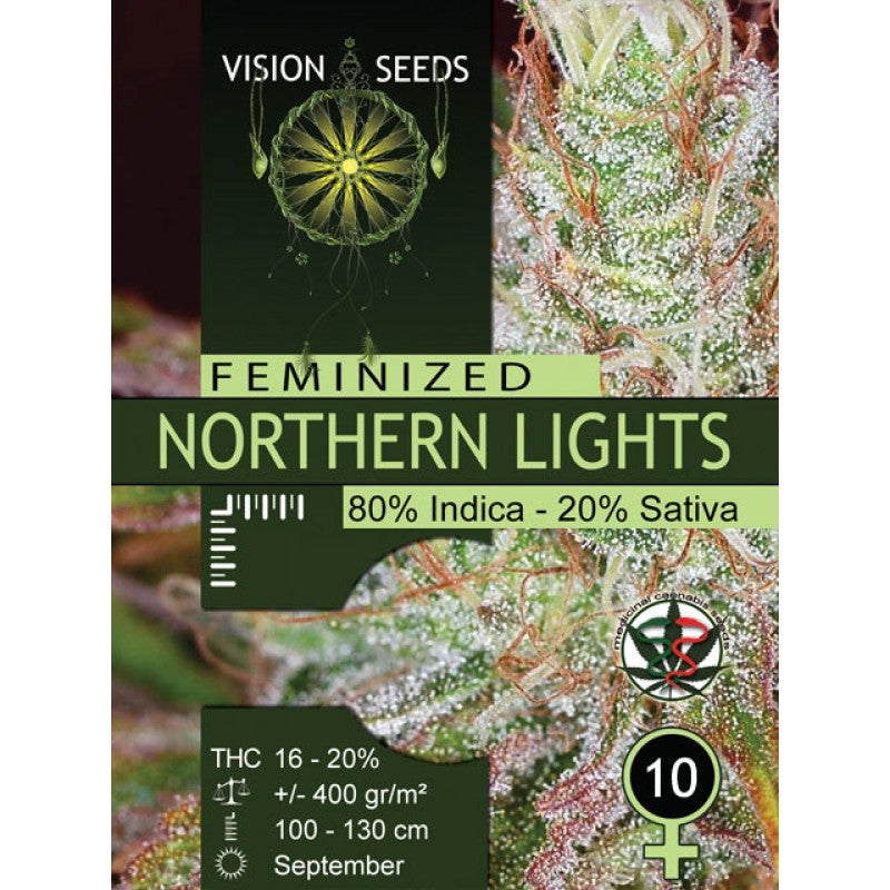 VISION SEEDS NORTHAN LIGHTS FEM 10S