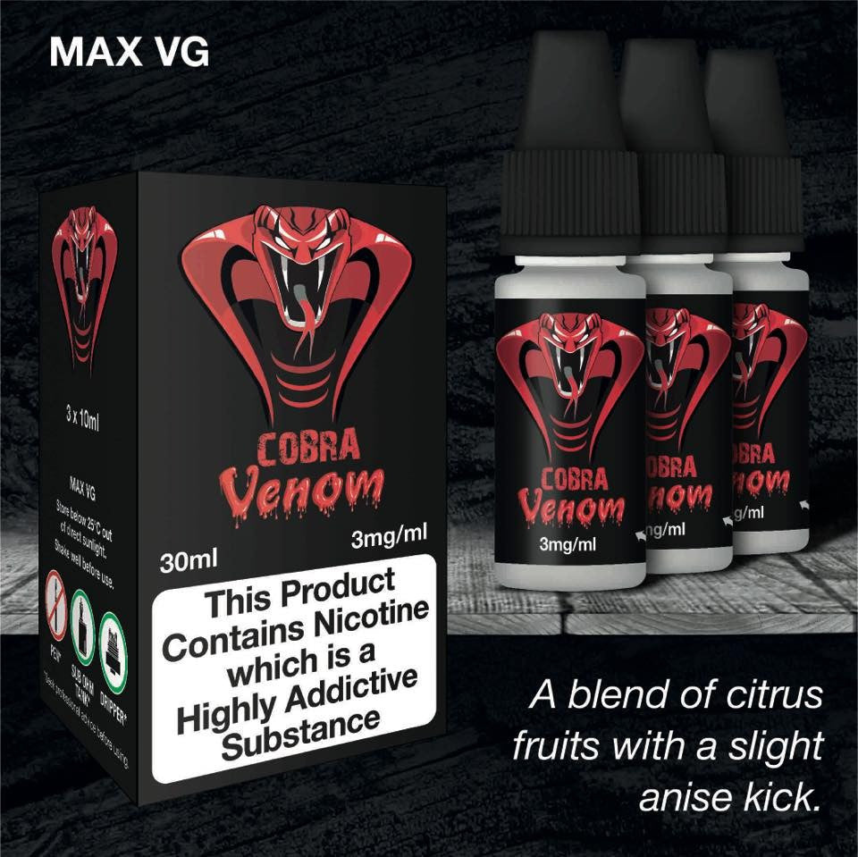 ECO VAPE COBRA VENOM 3 X 10ML 3MG