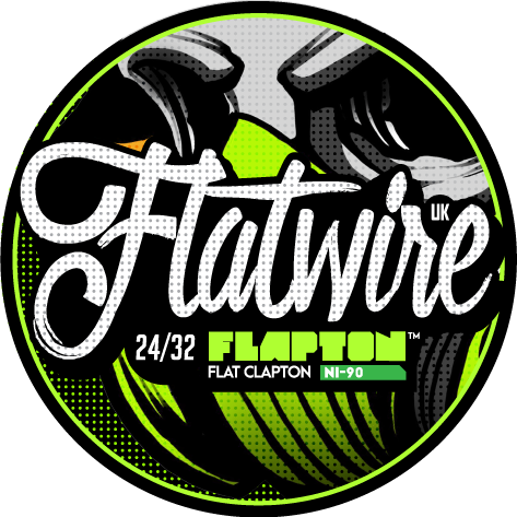 FLATWIRE UK NICHROME 90 FLAPTON 24/32 COIL WIRE