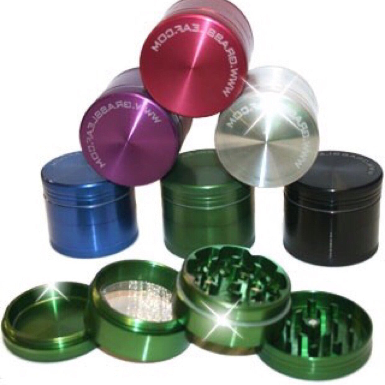 4 PART GRINDER 65MM GREEN