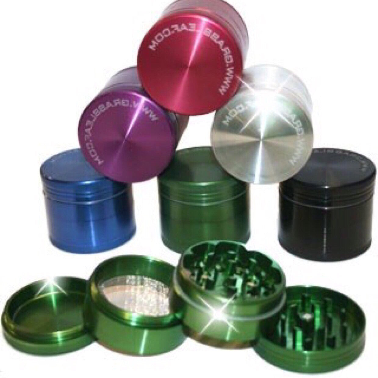 4 PART GRINDER 90MM GREEN