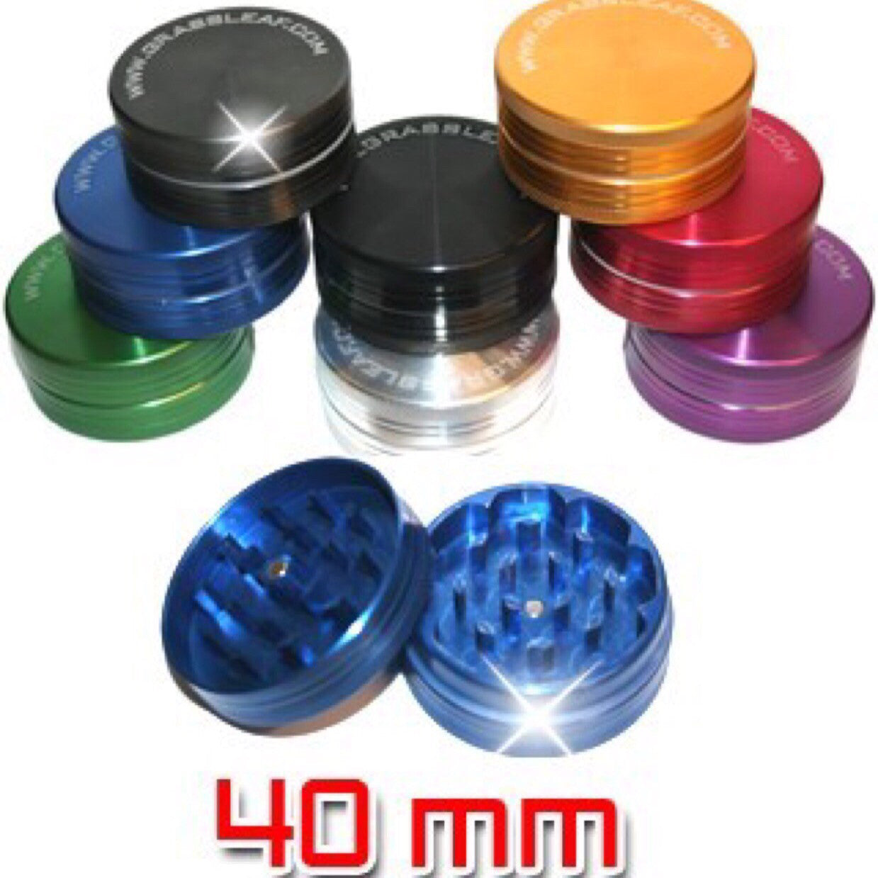 2 PART GRINDER 40MM PURPLE