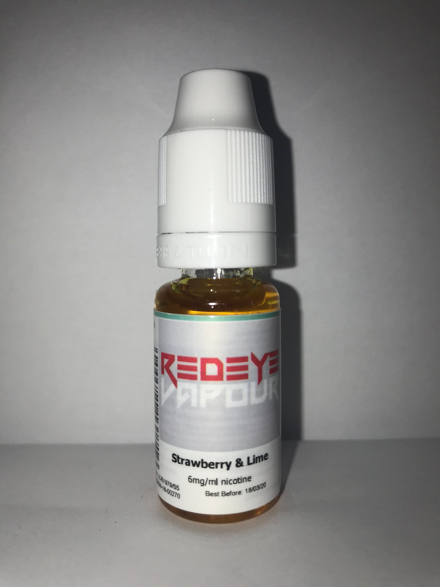 STRAWBERRY & LIME 50/50 E-LIQUID 10ML BY REDEYE VAPOUR