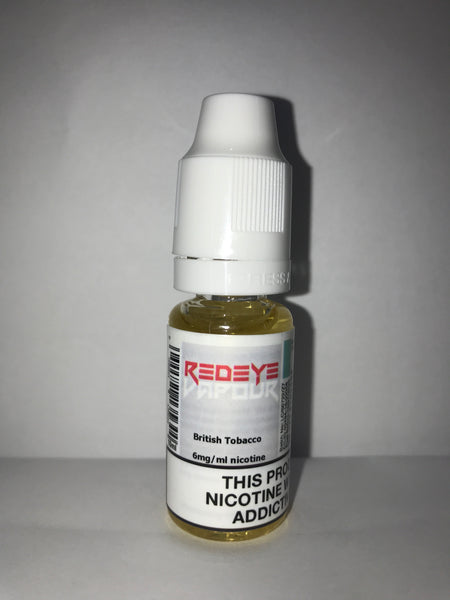 BRITISH TOBACCO 50/50 E-LIQUID 10ML BY REDEYE VAPOUR