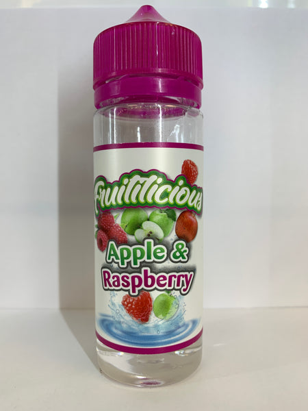 FRUITILICIOUS APPLE & RASPBERRY 100ML SHORTFILL