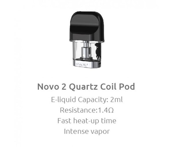 SMOK NOVO 2 REPLACEMENT PODS 1.4 OHM QUARTZ COIL | PACK OF 3